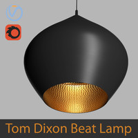 High Poly 3d model of Tom Dixon Beat Stout Pendant Black Lamp (Vray and Corona)