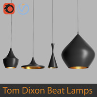 High Poly 3d models of Tom Dixon Beat Black Lamps (Vray and Corona)