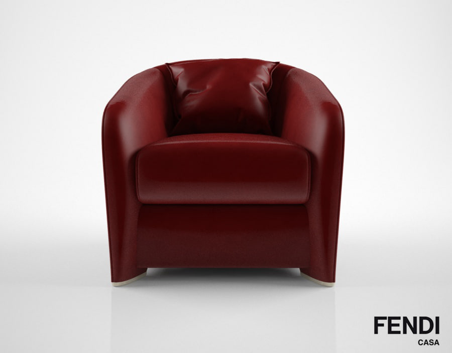 3D model fendi casa tiffany armchair