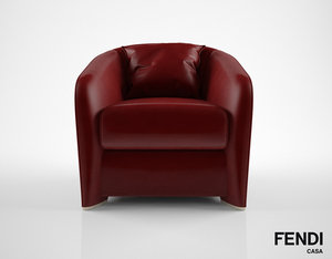 3D model fendi casa tiffany armchair