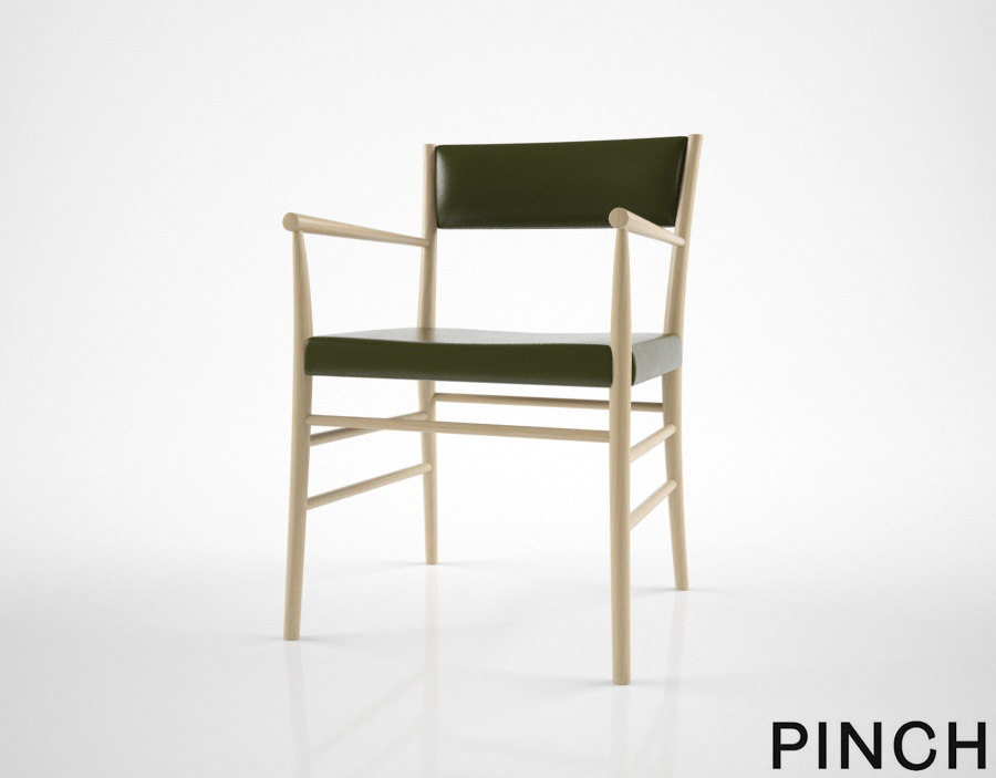 3D pinch avery armchair model
