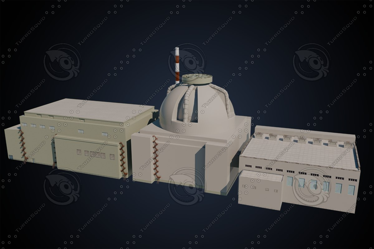 nuclear build 3D model