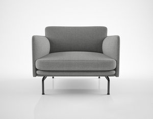 muuto outline chair 3D model