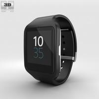 3D sony smartwatch smart model