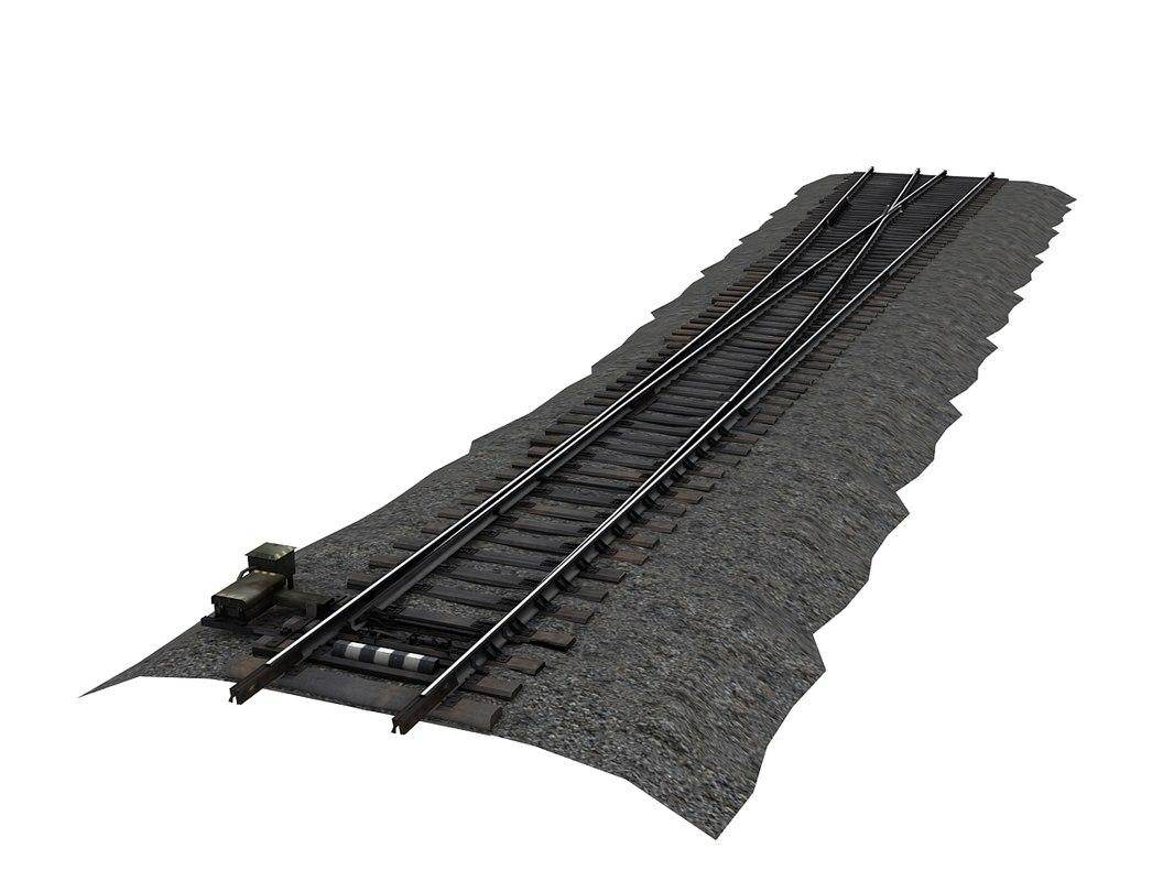wood switch left 3D model