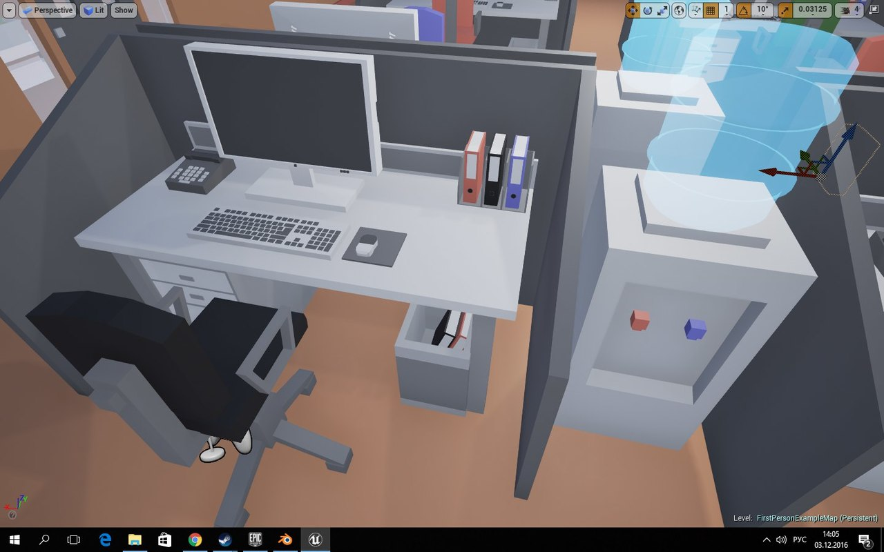 3D low-poly office pack