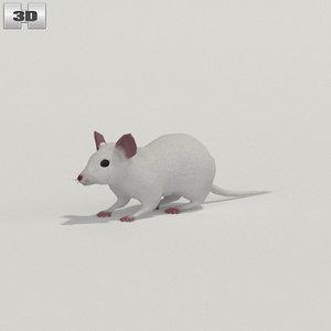 3D mouse white model