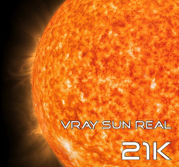 sun real 21k 3D model