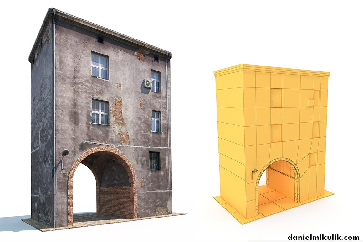 derelict building model