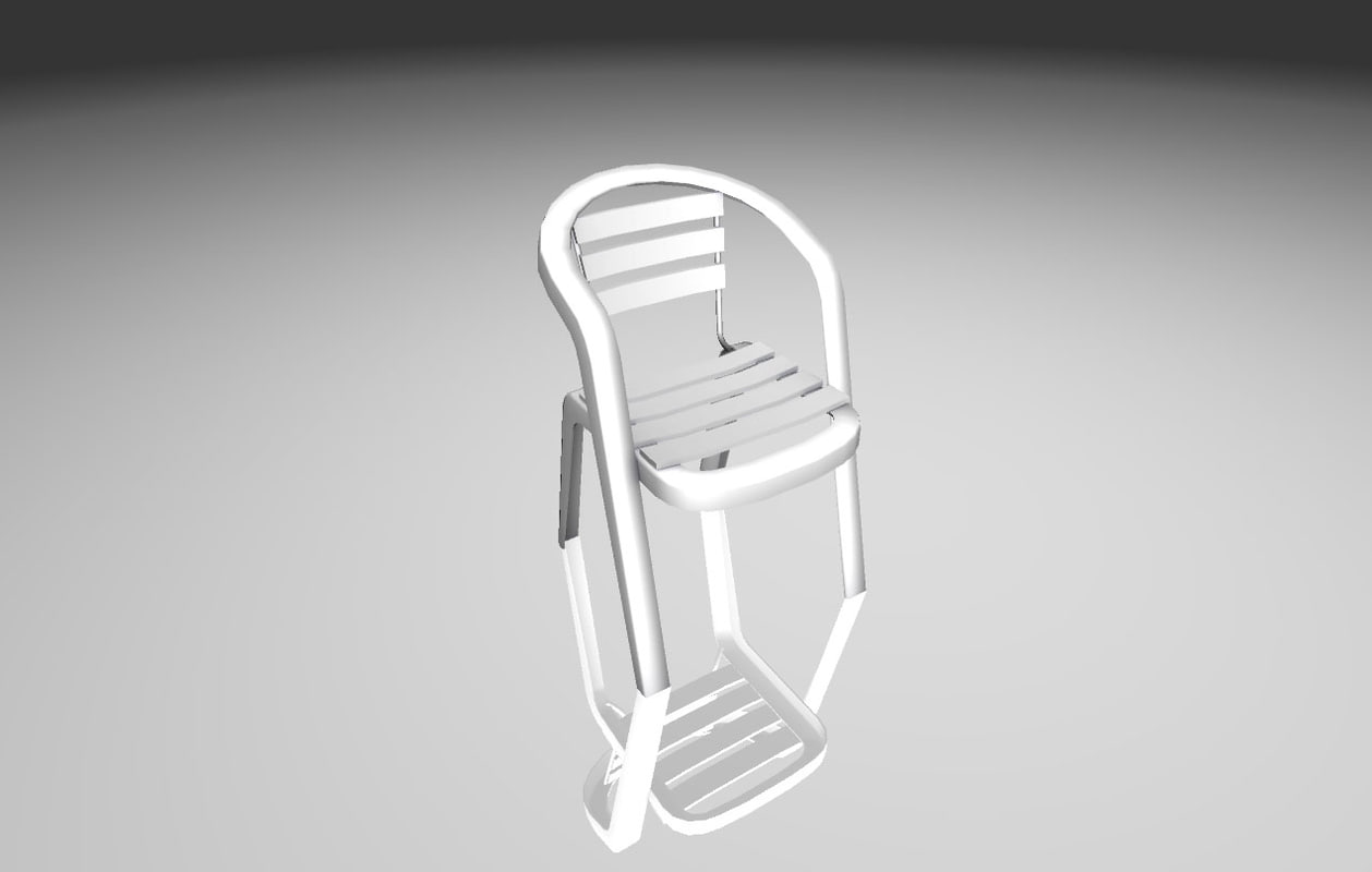 chair ready games 3D model