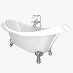 vintage bathtub devon white 3D model