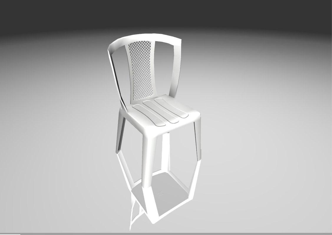 3D chair ready games model