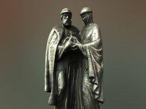 3D monument peter fevronia model