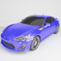 toyota gt86 3D model