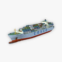 3D cargo ship cosco model