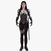 3D female warrior model