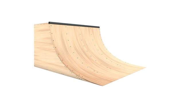 quarterpipe ramps 3D model