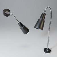 lamp ikea kvart 3D model