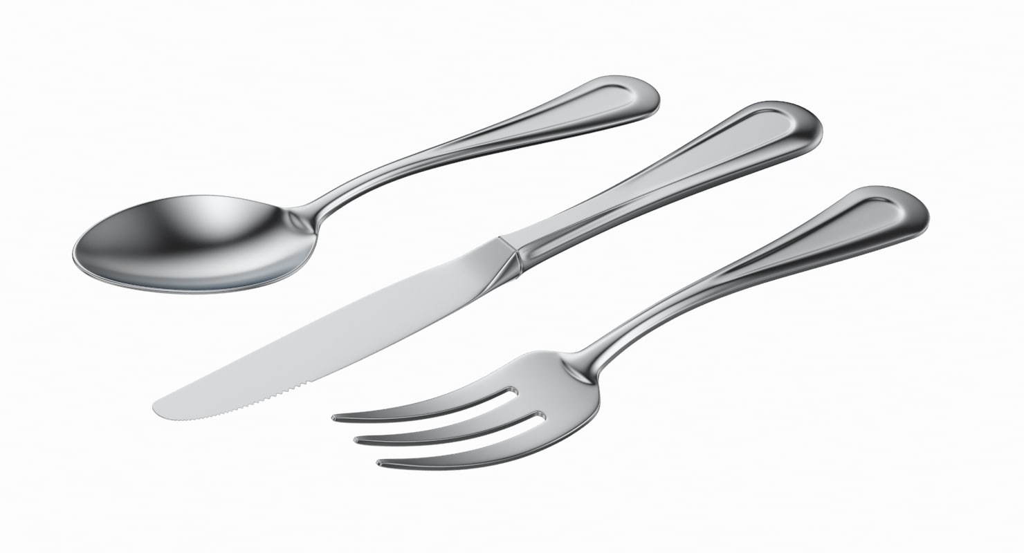 3D table dessert cutlery 3