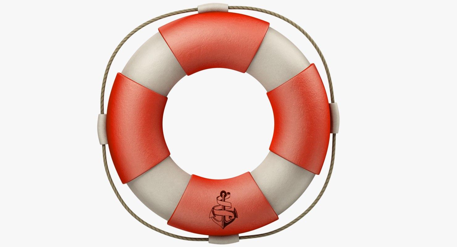 3D model lifebuoy life buoy