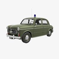 fiat 1100 carabinieri 1954 3D model