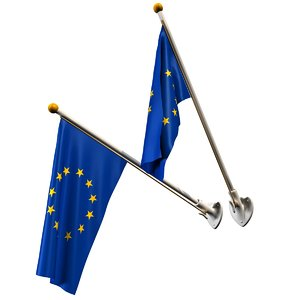 3D flags set model