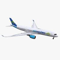 3D a350-900 air caraibes