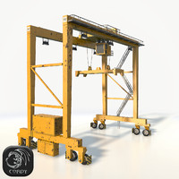 Gantry crane RTG low poly