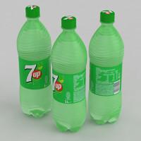 3D model beverage 7up