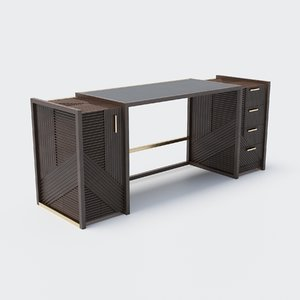 hampton writing desk 3D model