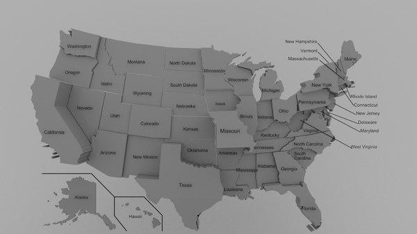 3D states election model