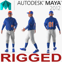 3D baseball player rigged generic