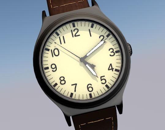 watch time wrist 3D