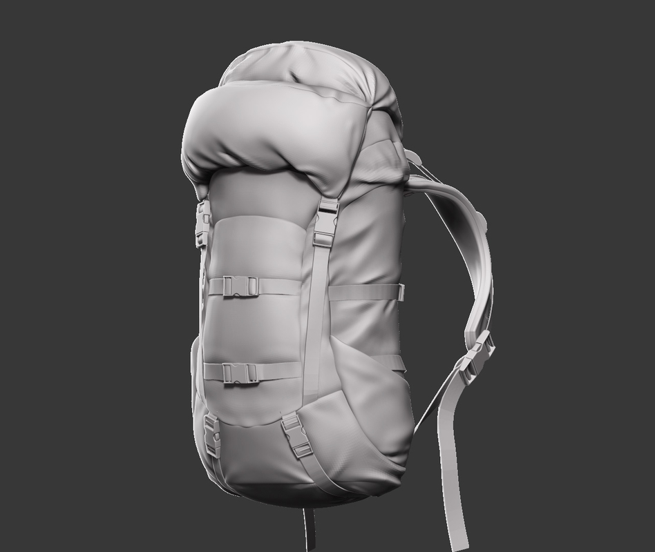 3D backpack model