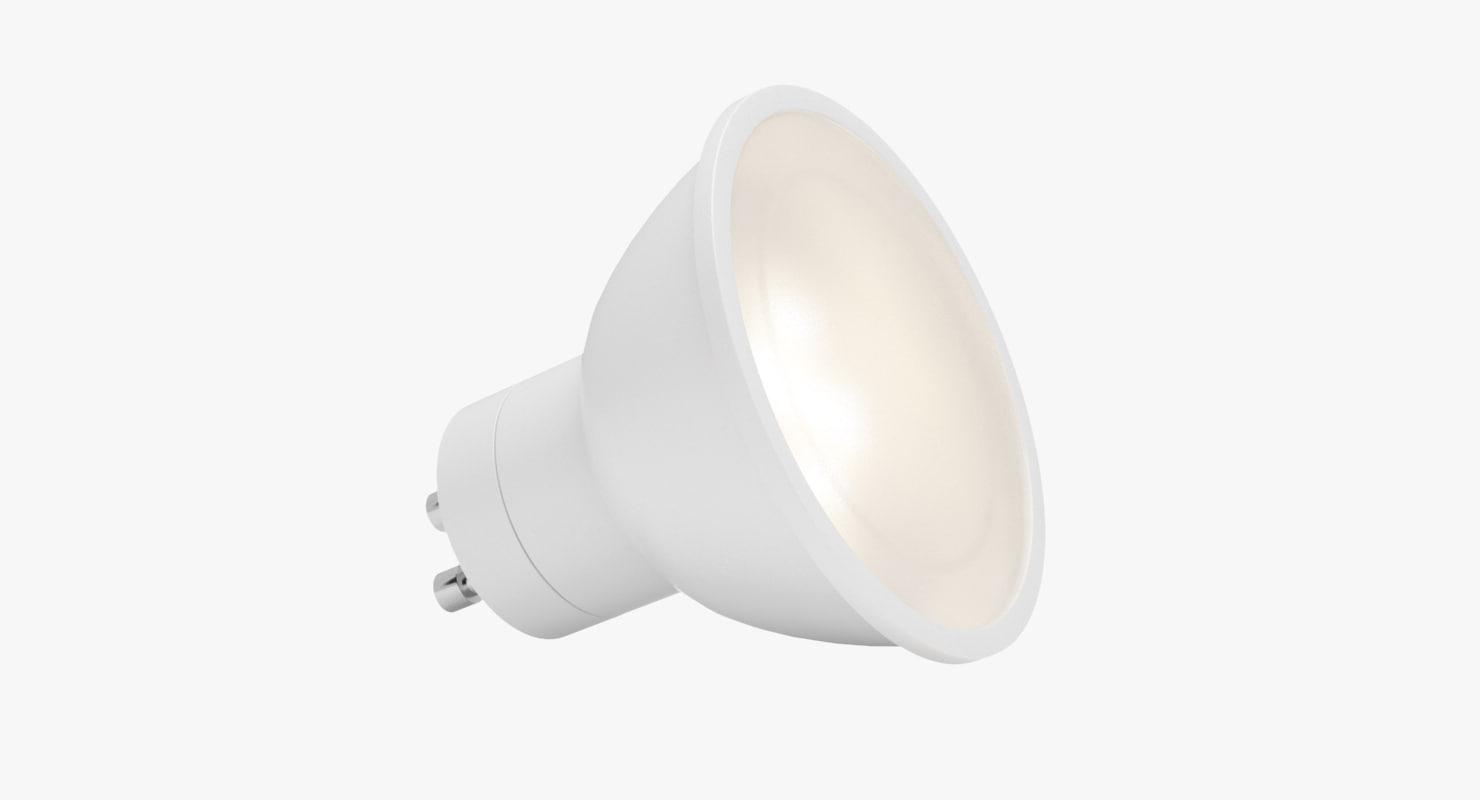 led bulb 1 3D model