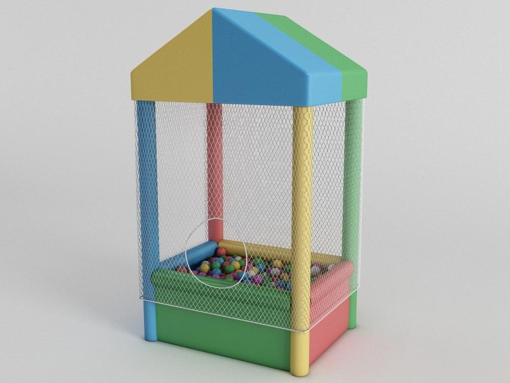 3D model ball pit