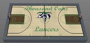 court thousand oaks lancers 3D model