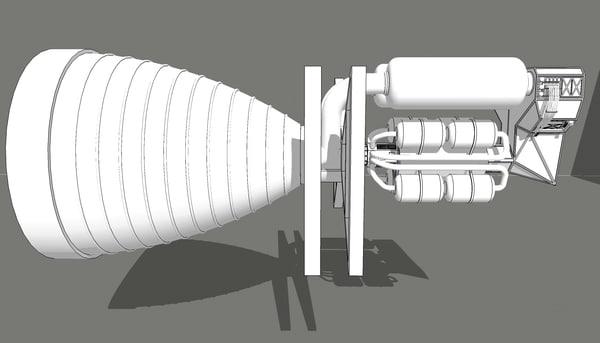 3D engine spaceship
