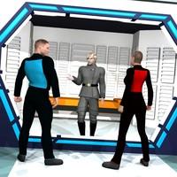 futuristic prison brig 3D model