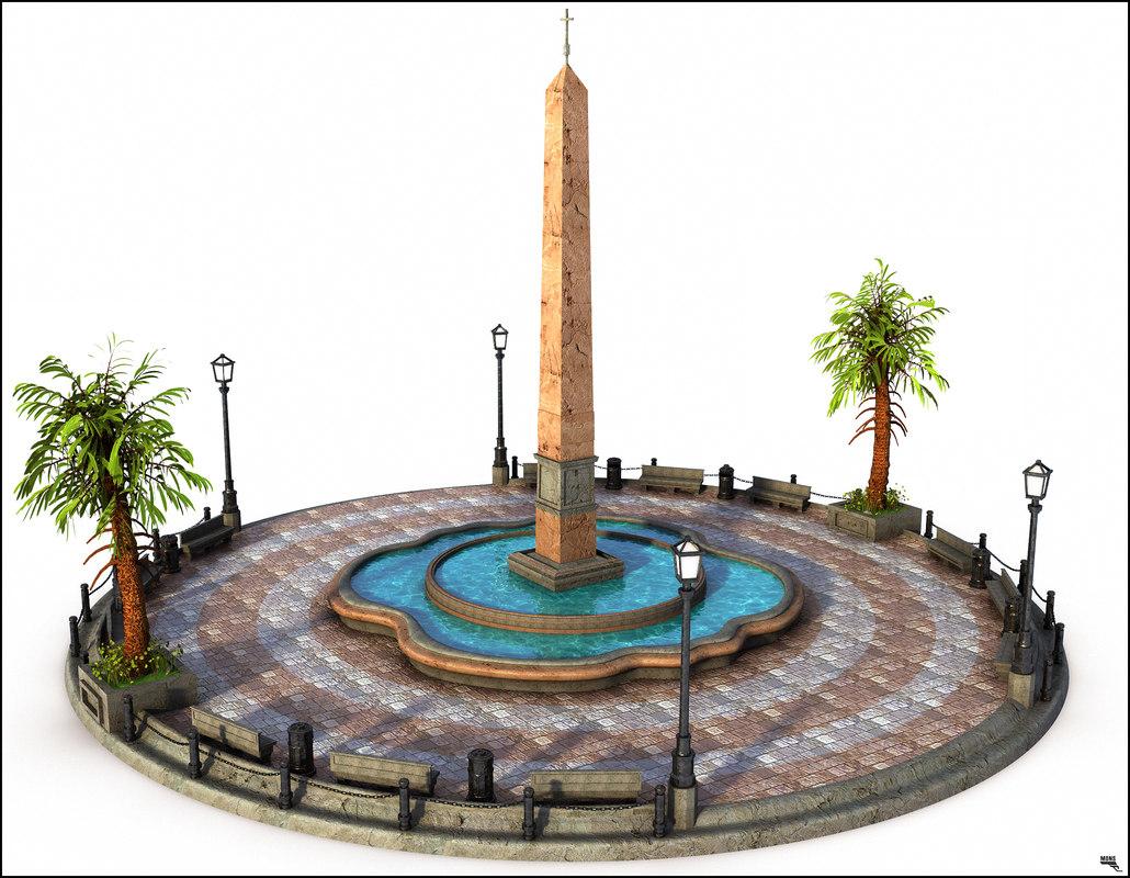 square historic 3D model