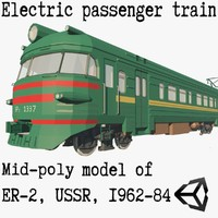 3D suburban electric train er-2