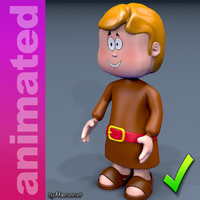 3D rigged character animations model