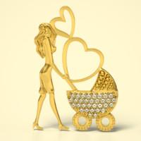 cnc stl gold 3D