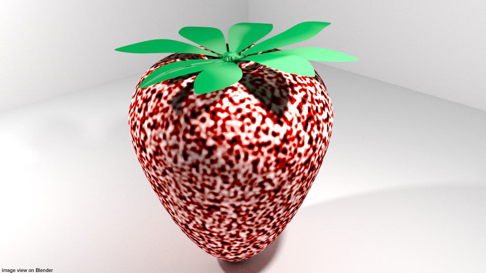 3D model berry fruit strawberry