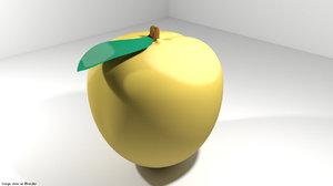 3D apricot fruit