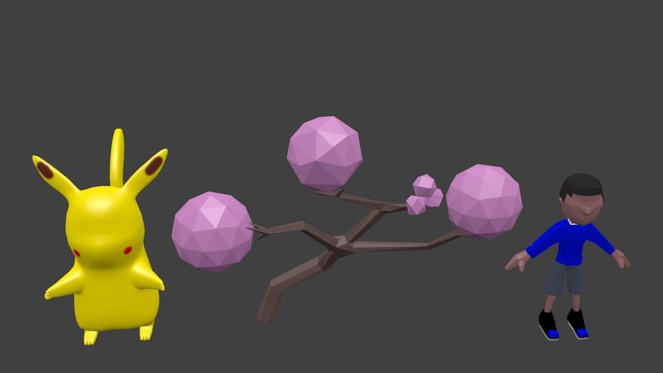 characters games 3D model
