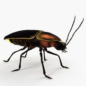 3D model firefly lighting