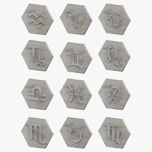 decor zodiac signs 3D model