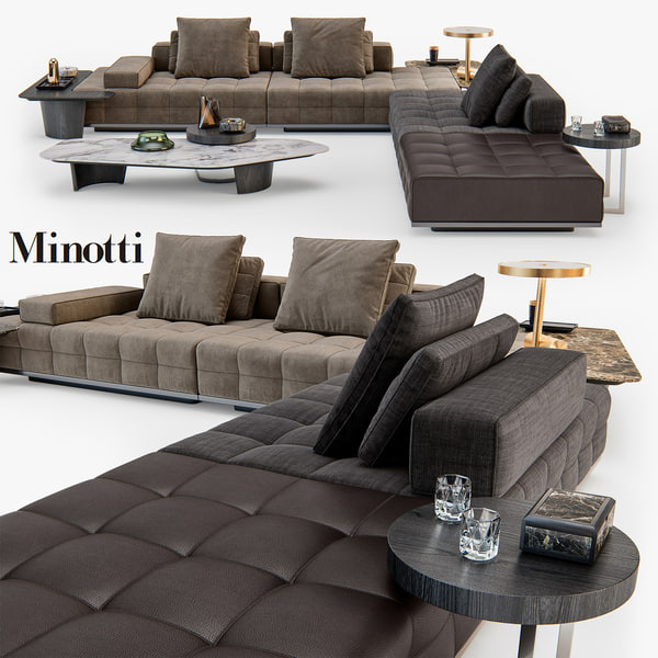 3D minotti lawrence clan seating