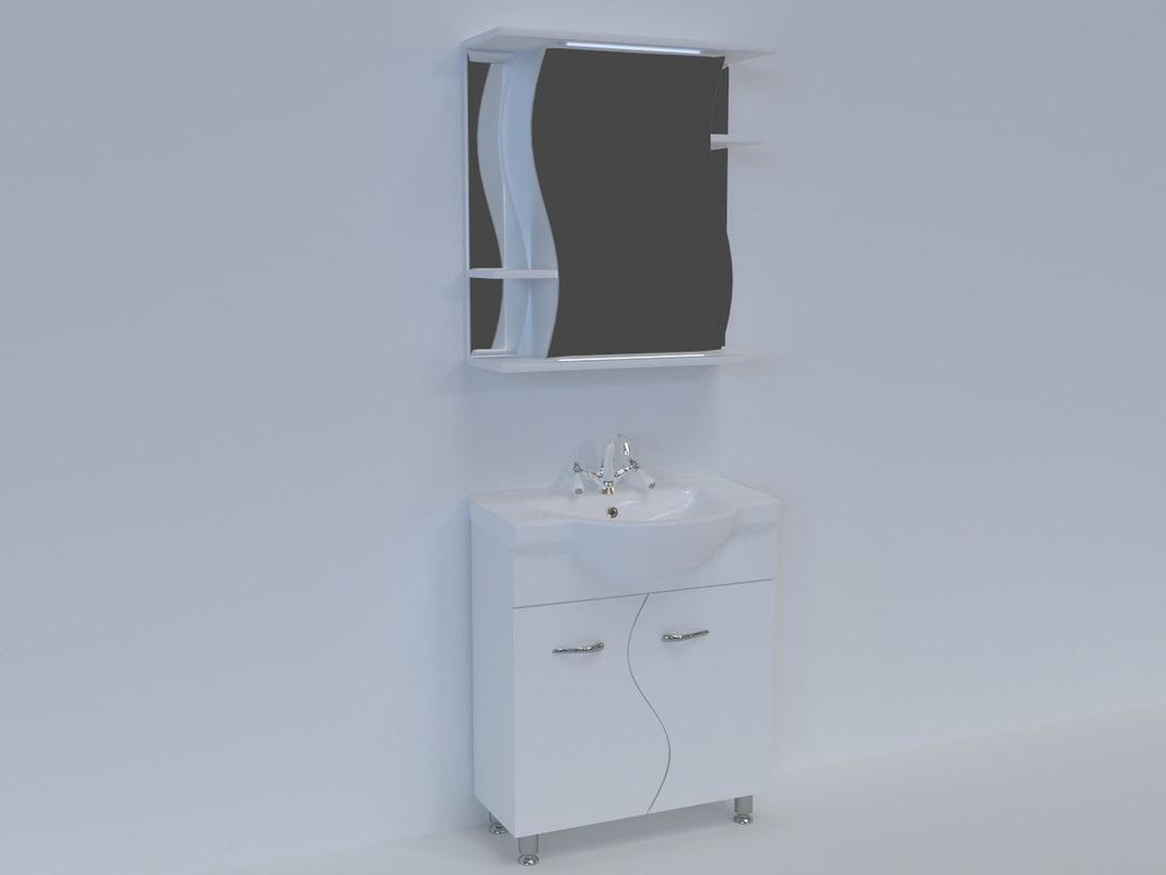 washbasin wave 3D model